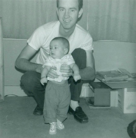 My father and I when I was a few months old