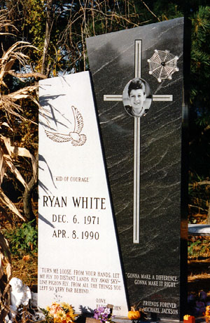 Monument for Ryan White's grave