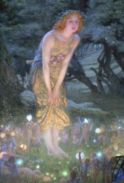 faery lights beneath classic painting