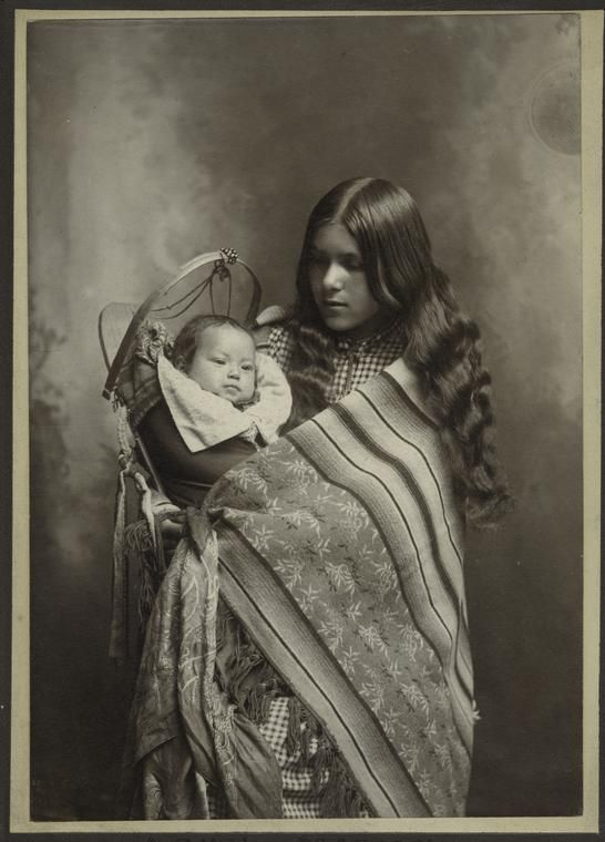 Woman and Baby Native American