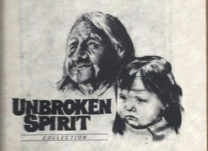 A Native American grandmother and child drawn by my father, James R. Griffin in 1994