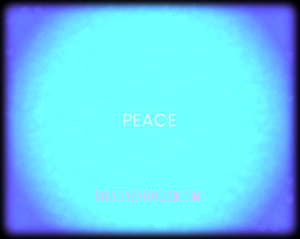 Peace in blue